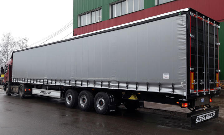 Шторные полуприцепы 16,5 метров STEELBEAR отправляются в Татарстан!